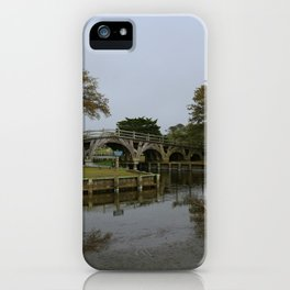 Historic Wooden Bridge At Currituck Light Station iPhone Case