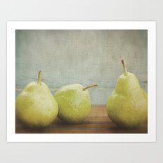 Pear Trio Art Print