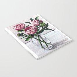 Peonies in a vase marers art Notebook