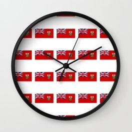 Flag of manitoba -Manitoban,rupert,Winnipeg,Brandon,Steinbach,portage,canada. Wall Clock