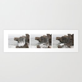 A wave in three parts Art Print