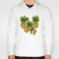 pineapples Hoodies featuring Pineapples by Erika Kaisersot