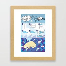 How to make a paper airplane Framed Art Print