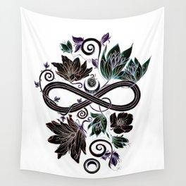 Infinity Moon Garden in Pastel at Midnight Wall Tapestry