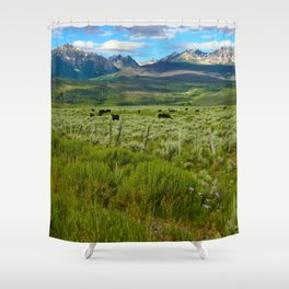 Colorado cattle ranch Shower Curtain