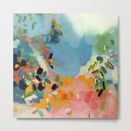 garden with sea view and olive tree Metal Print