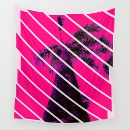 PINK PALM TREE  Wall Tapestry