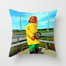 Fishermen's Mascot Throw Pillow
