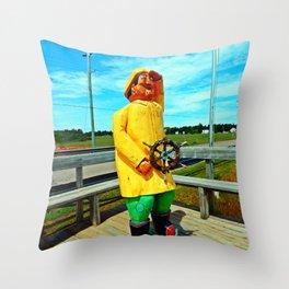 Fishermen's Mascot Throw Pillow
