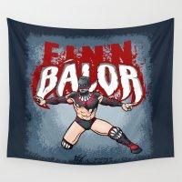 finn Wall Tapestries featuring Finn Balor by RandallTrang
