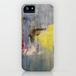 Subliminal Grey. Grey, Rain, Water, Car, Abstract, Blue, Jodilynpaintings iPhone Case