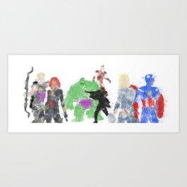 Assemble Colour Bomb Art Print
