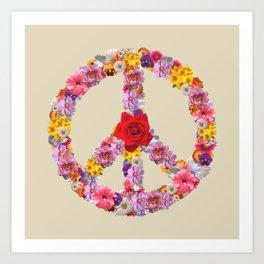 Peace Flower Sign Art Print