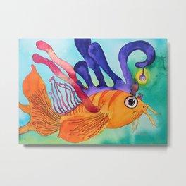 Mythical Fish Metal Print