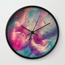 Tulip Birdys Wall Clock