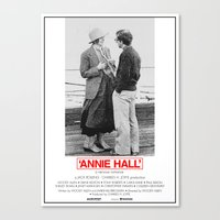 annie hall Canvas Prints featuring Annie Hall by Lucas Preti