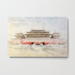 The forbidden City, Beijing Metal Print