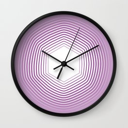 Polygon in White Pink Wall Clock