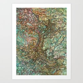 On the Wave of a Wind Art Print