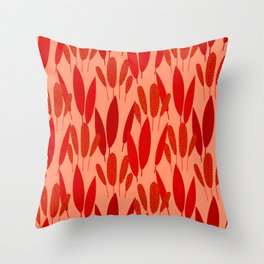 Neo Tropical - Brick Red Throw Pillow