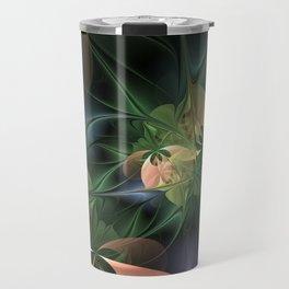 Fractal Floral Fantasy Travel Mug