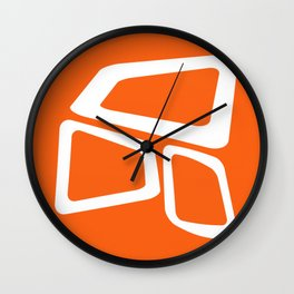 Mid Century In Burnt Orange Wall Clock