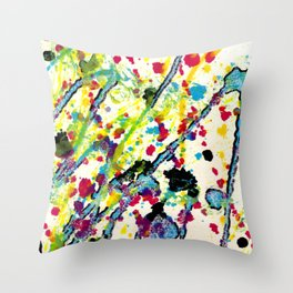 Experiments in Motion-Quad 1-Part 4 Throw Pillow