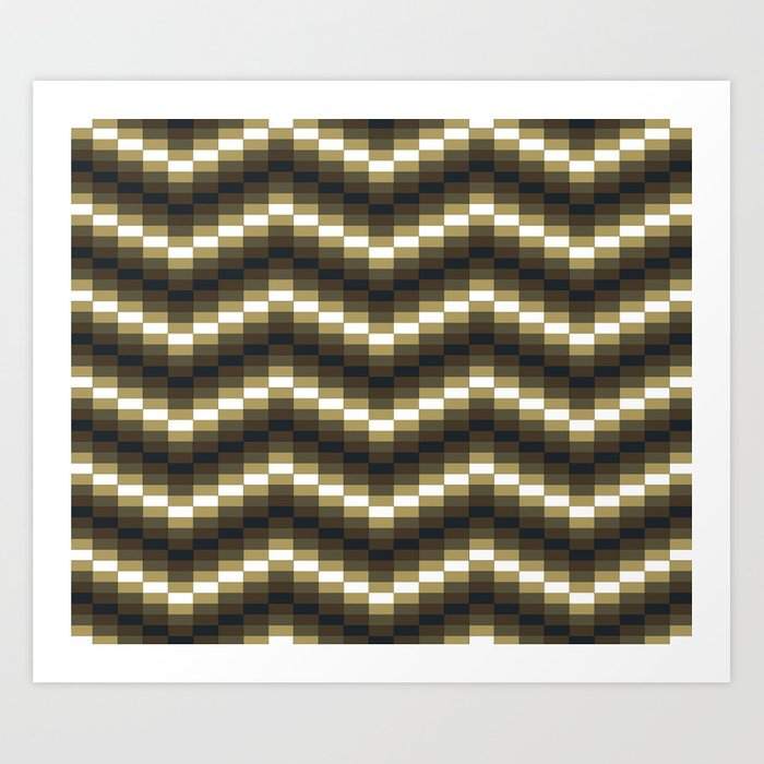 Block Wave Illustration Artwork Art Print