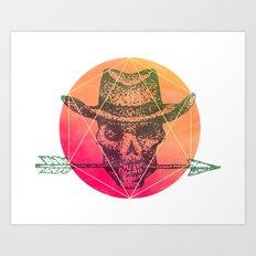 Dead Sheriff Art Print