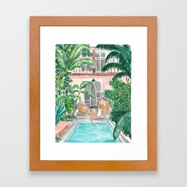 Moroccan Dream - Blonde Hair (Other Hair & Skin Tones Available) Framed Art Print