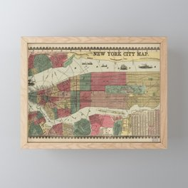 Miller's Map of the City of New York (1862) Framed Mini Art Print