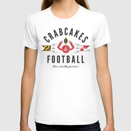 Crabcakes & Football T-shirt