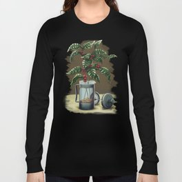 French Press Coffee Plant Long Sleeve T-shirt