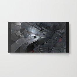 technocalyptictemple_01_monochromatic Metal Print
