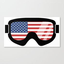 USA Goggles | Goggle Designs | DopeyArt Canvas Print