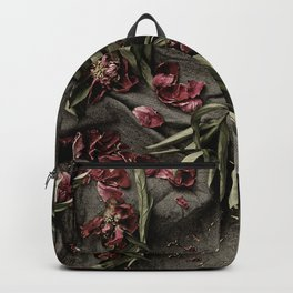 "Peonies are beautiful from the ""bud to to the end."" Backpack"