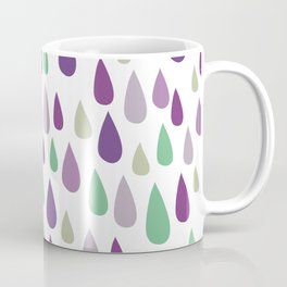 Hand painted pastel lilac purple green water drops pattern Coffee Mug