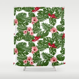 Hibiscus pattern Shower Curtain