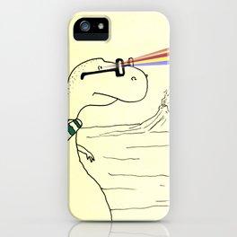 Hipster Laser Dinosaur iPhone Case