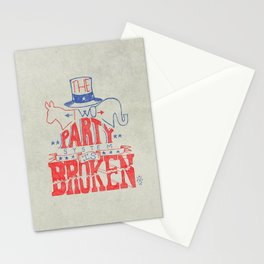 The Two Party System Stationery Cards