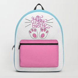Hoppy Easter Bunny Feet and Whiskers Backpack