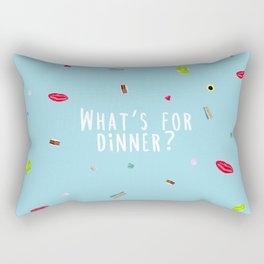 WHAT'S FOR DINNER? 2 (with text) Rectangular Pillow