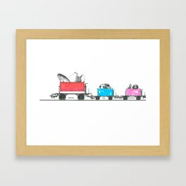 Mother, Son, and Daughter Framed Art Print