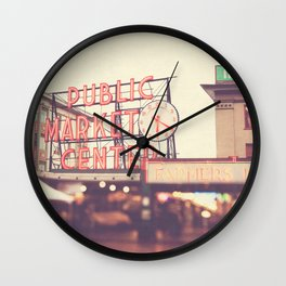 Seattle Pike Place Public Market photograph, 620 Wall Clock
