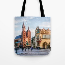 Cracow Main Square art Tote Bag