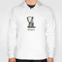 hufflepuff Hoodies featuring Hufflepuff by tee-kyrin