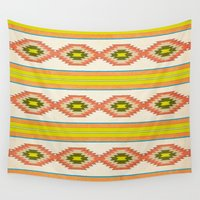 navajo Wall Tapestries featuring Navajo Pattern by Nxolab