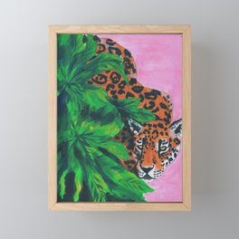 Jungle cat Framed Mini Art Print