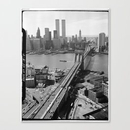 Looking NW Towards Manhattan / Twin Towers Canvas Print