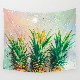 Party Pineapple Wall Tapestry